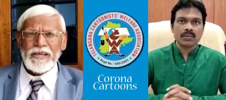 Video inauguration with Corona Cartoons