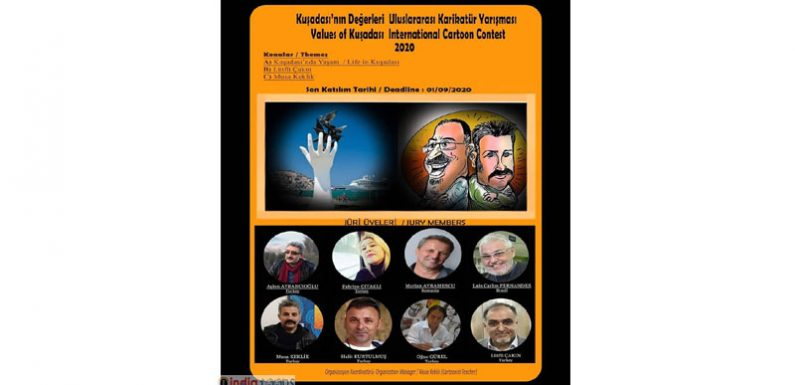 New Deadline and participants list..  Values of Kuşadası  International Cartoon Contest – 2020 Deadline 1 September 2020