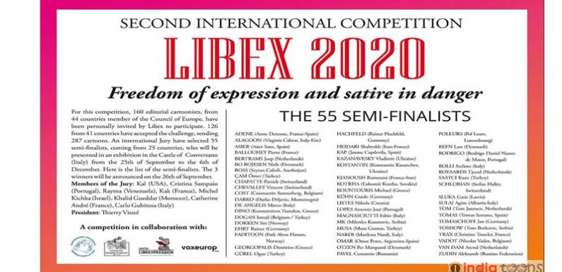 The smifinalists of the second Libex competition 2020